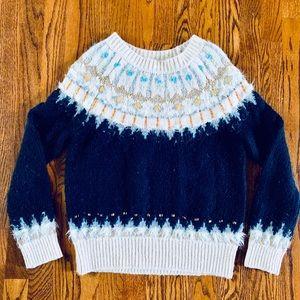 Beaded Fairisle Pullover Sweater